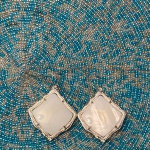 NWOT Silver & White Earrings